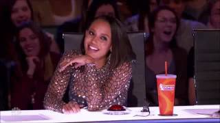 Howie's Worst Nightmare Goes Completely Naked!!! Mel B is having fun!!! - America's Got Talent 2017