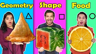 Geometric Shaped Food Challenge | HUNGRY BIRDS