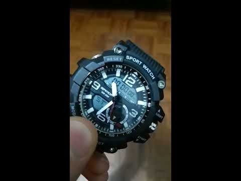 d7cd0ed6a6d Sanda 740 5321 Luminous Double Movement Men Watch - BLACK - YouTube