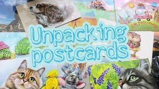 Распаковка Почтовых Открыток _ Unpacking Postcards _ Волшебные Почтовые Открытки Lovely Cards