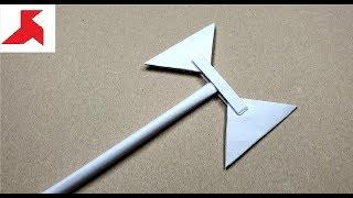 dIY - Как сделать двухстороннюю СЕКИРУ из бумаги а4 своими руками?