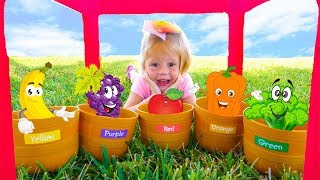 Magic Colored fruits and vegetables grow up by Like Nastya thumbnail