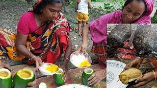How To Cook Egg Omelette In Papaya? Amazing Recipe | Wild Survival Style | Rare Village Foods