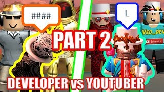 The WORST Jailbreak Players EVER??? Youtubers vs Developers PART 2 | Roblox Jailbreak