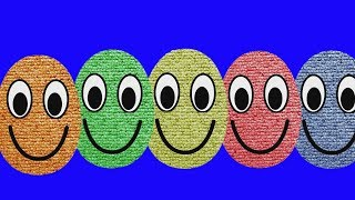 Learn colors Smiley Face Surprise Eggs Video for Kids | Learning Colors For Children and Babies