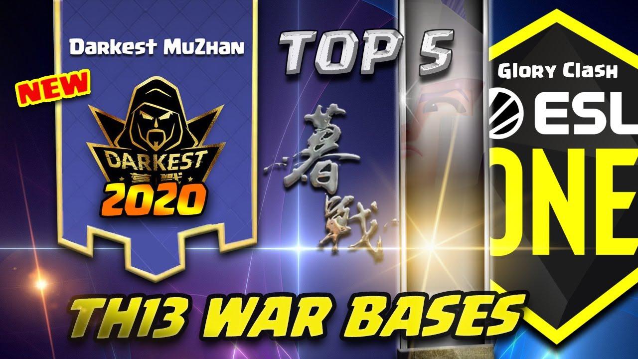 *WOW* Top 5 Darkest MuZhan Th13 War Bases 2020 ESL / Anti 2-3 Star / Clash of clans 部落冲突 #523