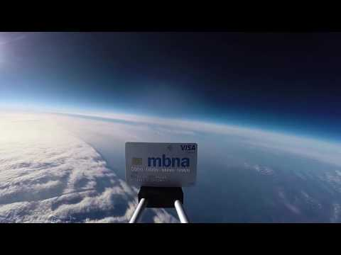 MBNA Platinum Credit Card in Space   MBNA