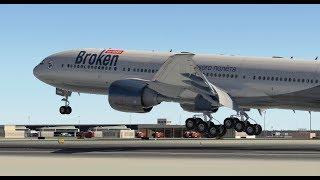 Ночной Дубай. Boeing 777-200 для X-plane 11 (Актобе - Абу-Даби)