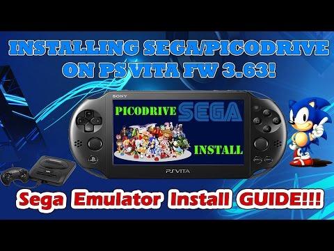 INSTALLING SEGA GENESIS - PICODRIVE ON PS VITA FW 3.63! ARK-2 Easy Emulator Install Tutorial!
