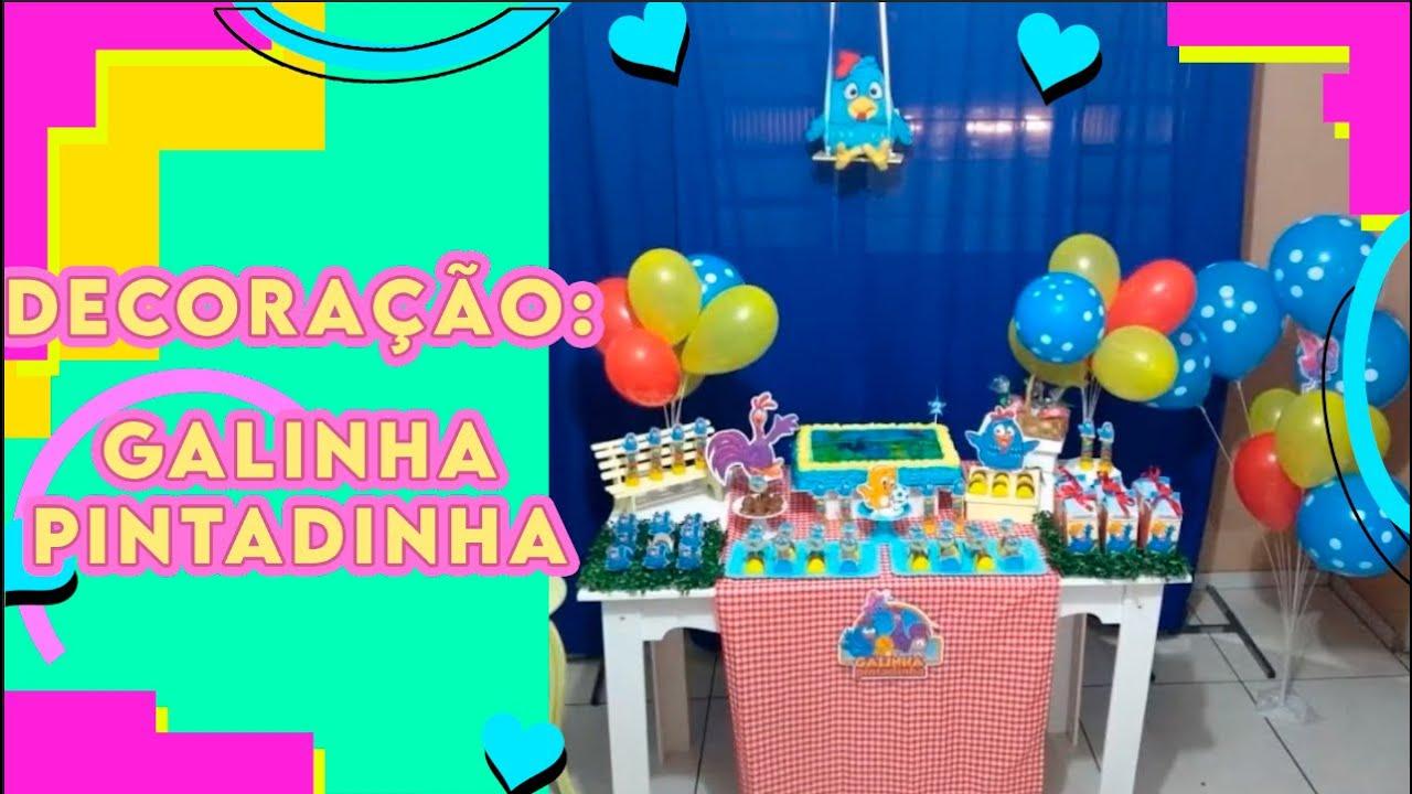 Galinha Pintadinha decoraç u00e3o simples YouTube -> Decoração Festa Infantil Galinha Pintadinha Simples