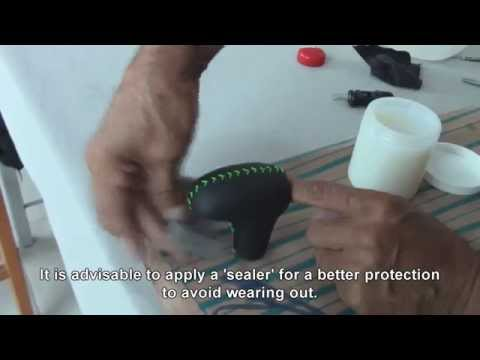Leather-Wrapping a Shifter-Knob- Auto Upholstery
