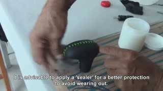 CAR UPHOLSTERY-Leather-Wrapping a Shifter-Knob-TUTORIAL