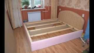 Как сделать двуспальную кровать подиум своими руками(Самостоятельное изготовление кровати с подъемным механизмом и коробом для белья в домашних условиях самос..., 2015-06-29T19:19:42.000Z)