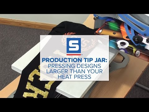 Production Tip Jar: Pressing Designs That are Larger then Your Heat Press