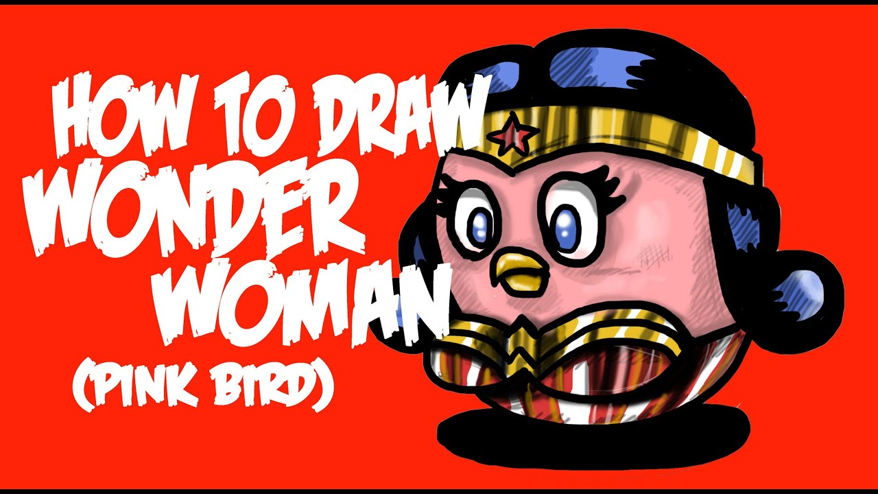 How To Draw Wonder Woman (pink Bird)!! By Davide Ruvolo