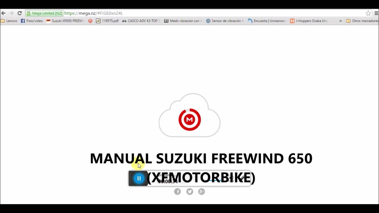 Link para descargar el Manual de la Suzuki Freewind XF650