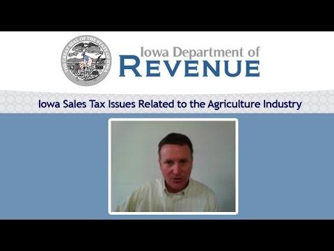 Iowa Sales Tax Issues Related to the Agriculture Industry, Terry O'Neill