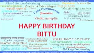 Bittu   Languages Idiomas - Happy Birthday