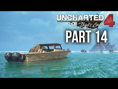 Uncharted 4 Gameplay Walkthrough Part 14 - AT SEA (Chapter 12)
