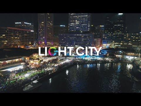 Drone Exploration of 2018 Light City Baltimore (DJI Phantom 4 Pro) [4K]