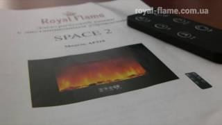 Royal Flame Space 2 - видео обзор настенного электрокамина