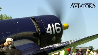 The spectacular sound of a Vought F4U Corsair (Startup, Take-off, Fly-by)