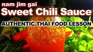 Authentic Thai Recipe for Sweet Chili Dipping Sauce | น้ำจิ้มไก่ | How to Make Nam Jim Gai