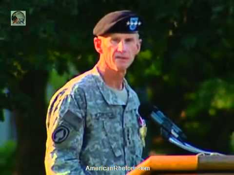Stanley McChrystal - Retirement Speech (Complete)