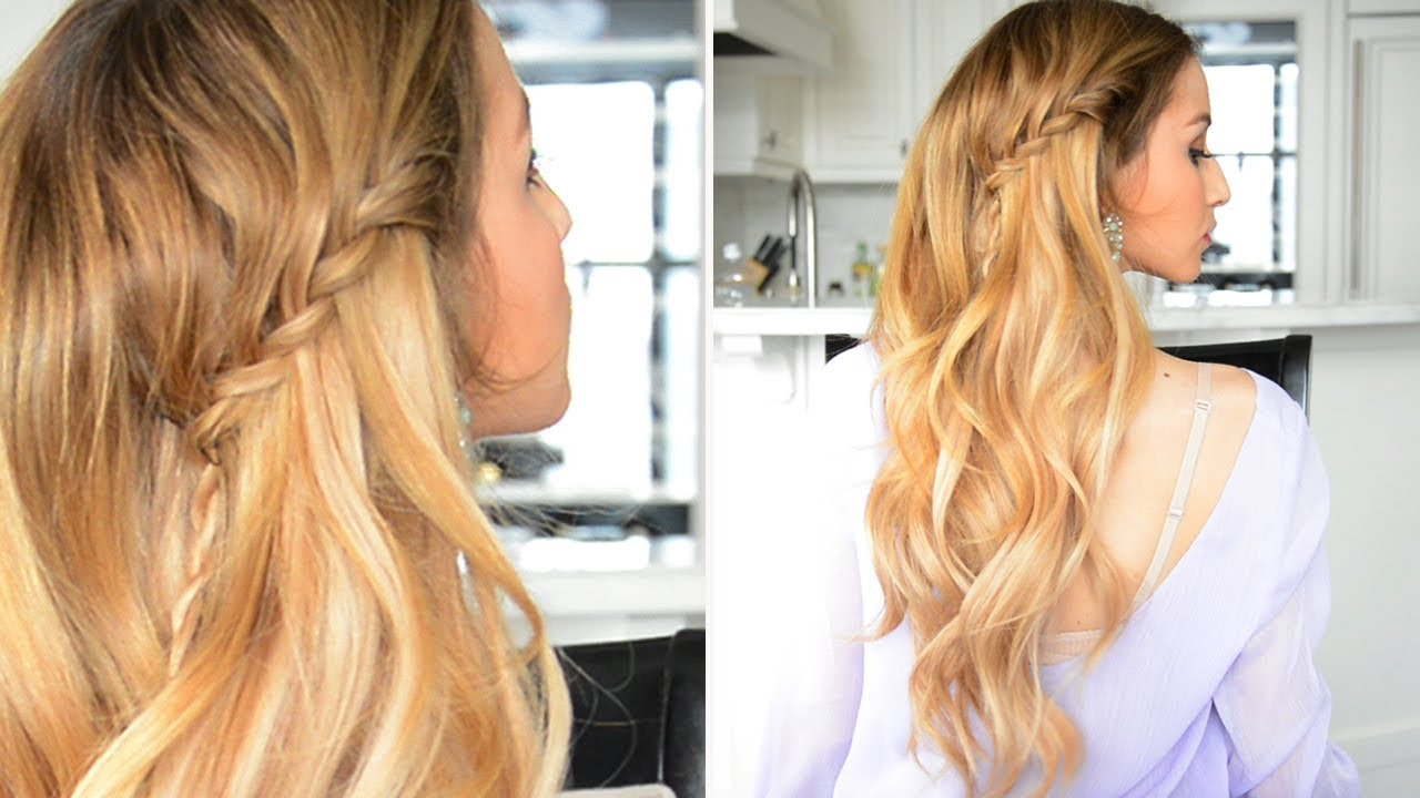 twisted waterfall braid with rope