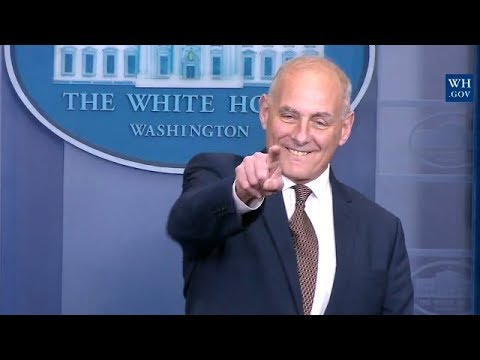 """I'M NOT QUITTING!"" President Trump's Chief Of Staff John Kelly Announces At White House Daily Brief"
