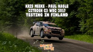 Kris Meeke - Paul Nagle - Citroen C3 WRC 2017 (High speed test in Finland)