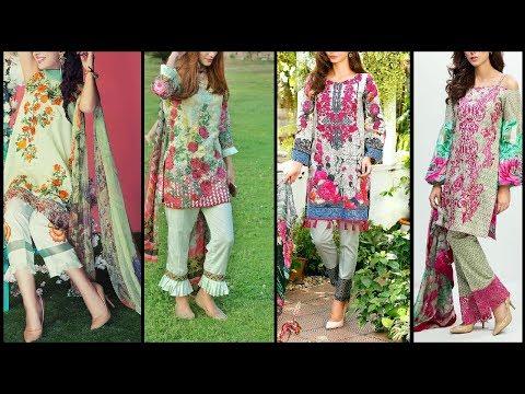 Latest Stylish / Trendy trousers with beautiful Shirts / kameez For Girls / Women Fashion