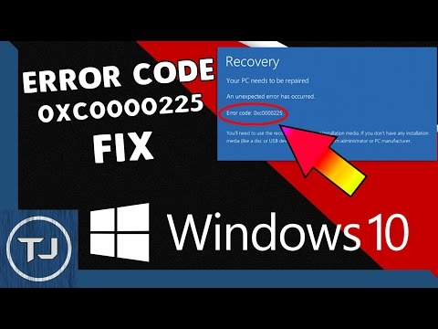 Windows 10 Error Code 0xc0000225 Fix 2017!
