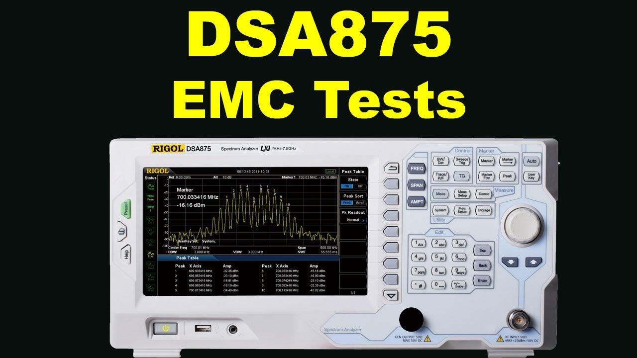RIGOL DSA875 EMC-tests 2 4GHz 3rd harmonic    toughest spectrum analyser  test
