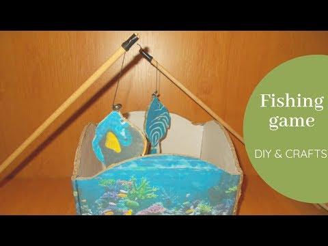 DIY Magnetic Fishing Game For Kids