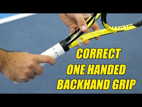 What Are The Correct One Handed Backhand Grips? | Ace Academy Tennis | Cesar Morales