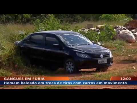 DFA -  Homem baleado durante tiroteio entre bandidos em Sobradinho