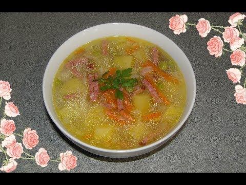 Суп из сырокопченой колбасы в мультиварке