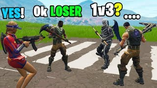 I challenged 3 noobs to a 1v3 in Playground! (INSANE BUILD BATTLE!)