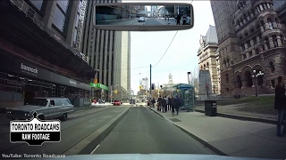 Driving in Toronto - Long weekend cruise around downtown Toronto - April 2017 - Combined View