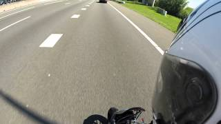 Honda Dax 190cc on Dutch highway Go Pro