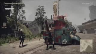 Nier:Automata - Emil's house location, Emil Heads weapon エミールの家 、エミールヘッド武器