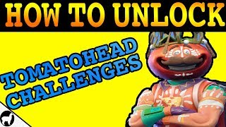 How to Unlock Tomatohead Challenges | Fortnite Battle Royale | Regal Freshness | Crown Outfit