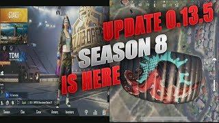 Update 0.13.5 & Season 8 Royale Pass All Rewards Gameplay Pubg Mobile