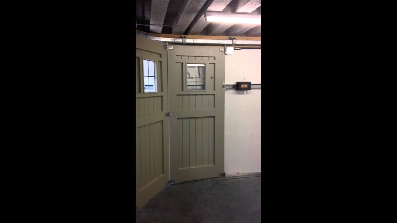 Automating a side sliding garage door - YouTube