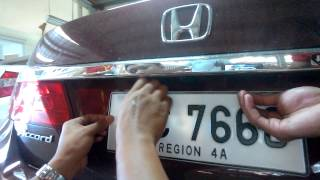 How to install new LTO plate