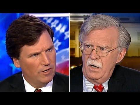 Tucker Carlson Vs Neocon John Bolton On Regime Change Wärs   It Gets Weird