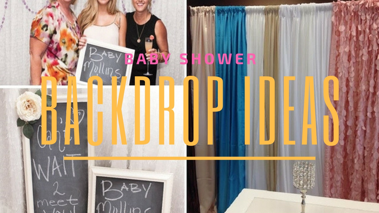 Baby Shower Backdrop Ideas - YouTube