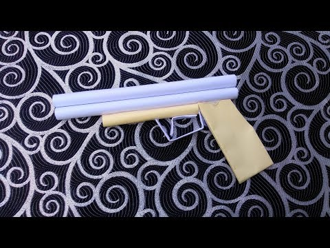 Paper pistol that does not shoot + Paper gun easy for kids + Cool Diy Paper Weapons
