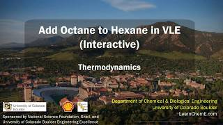 Add Octane to Hexane in VLE (Interactive)